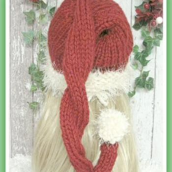 Ho Ho Santa Hat Knitting Pattern Sized Preemie, Baby, Child and Adult